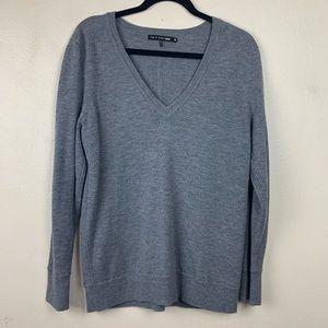 Rag & Bone Gray V-Neck Sweater Gray Merino Wool M
